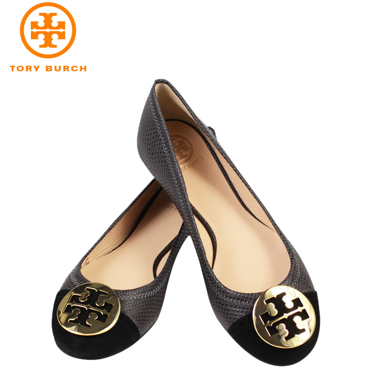 ALLSPORTS | Rakuten Global Market: Tory Burch TORY BURCH Womens Serena 2  Ballet flat pumps SERENA 2 BALLET FLAT leather ballet shoes 31148200 056  charcoal ...