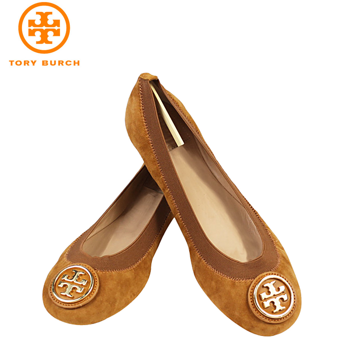 ALLSPORTS | Rakuten Global Market: Tory Burch TORY BURCH Womens Caroline  Ballet flat pumps CAROLINE BALLET FLAT suede ballet shoes 31148201 228  Maple suede ...