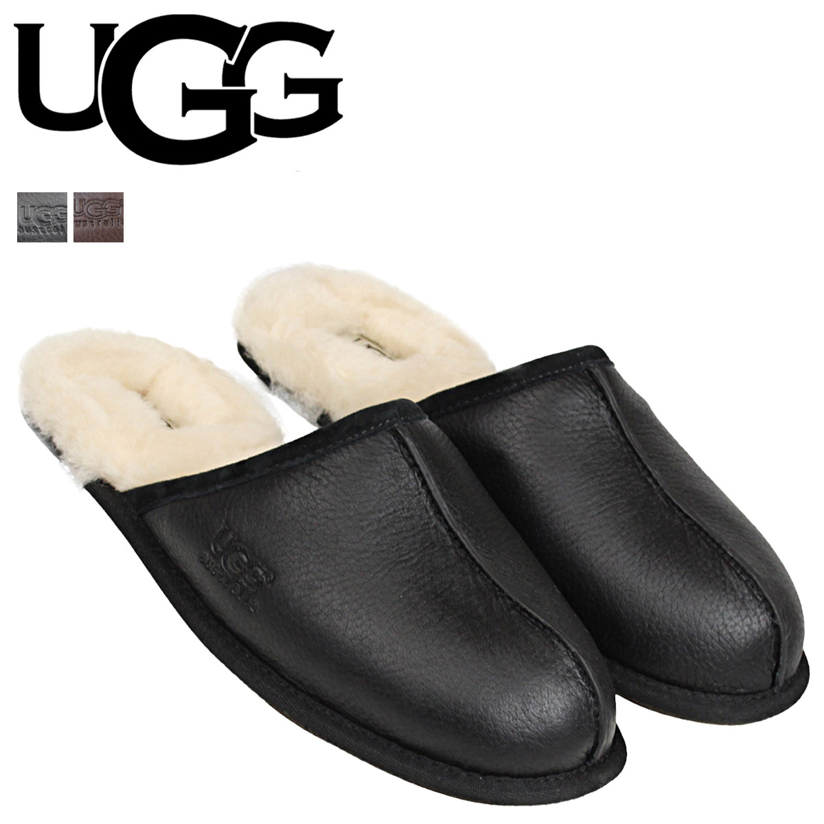 41a8a127c8a UGG UGG mens MENS SCUFF slippers scuff 1001546 black [9/30 new in stock]