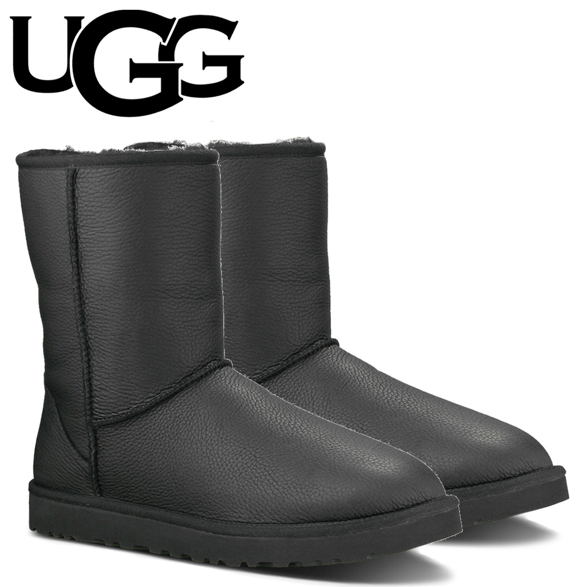 Point 2 x UGG UGG men's classic short boots MENS CLASSIC SHORT Sheepskin leather 2014 new 1003944 black [11 / 26 new stock] [regular] 02P30Nov14