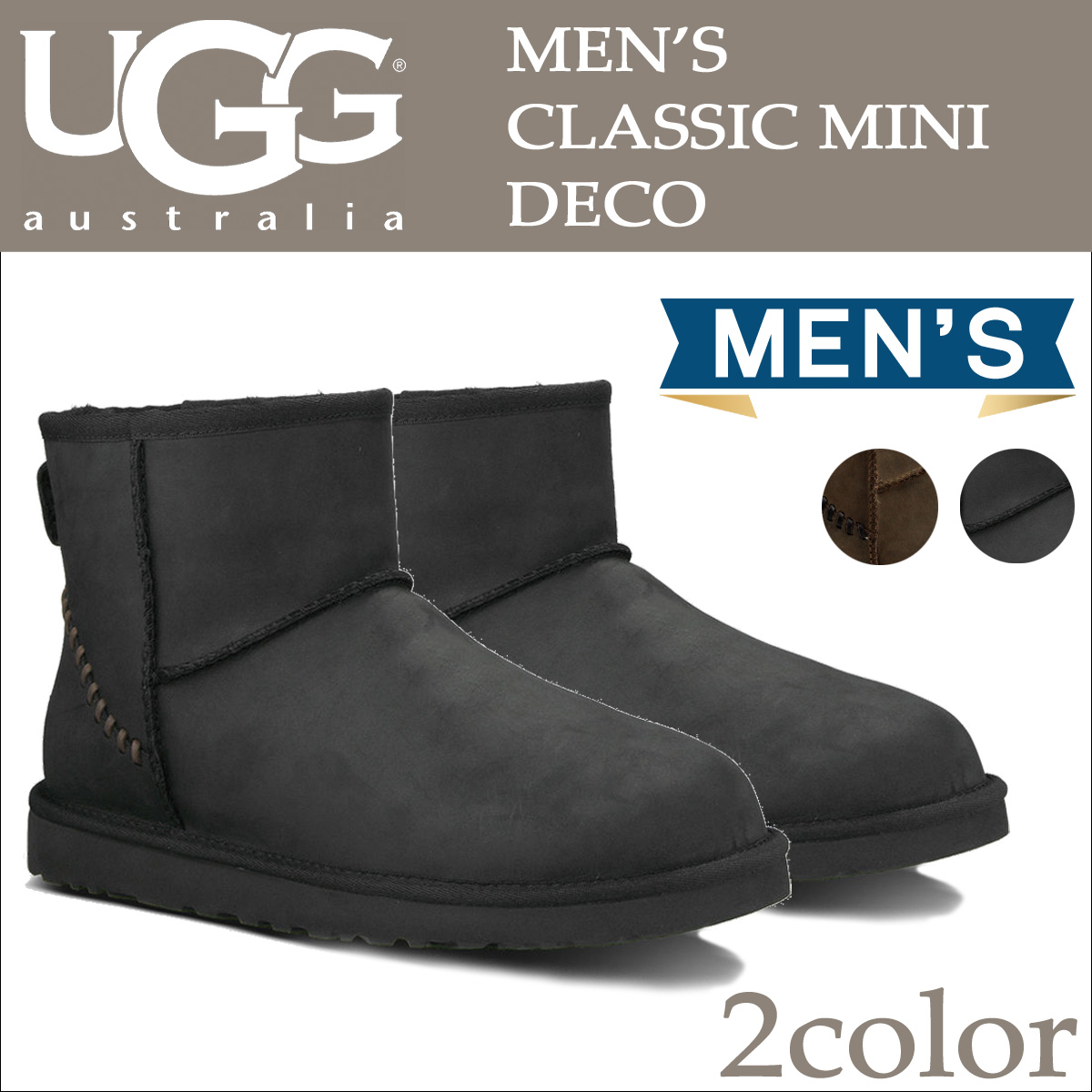 Sheepskin Boots Classic mini, UGG UGG men's MENS CLASSIC MINI DECO Deco 1003945 2 color [9/30 Add in stock]