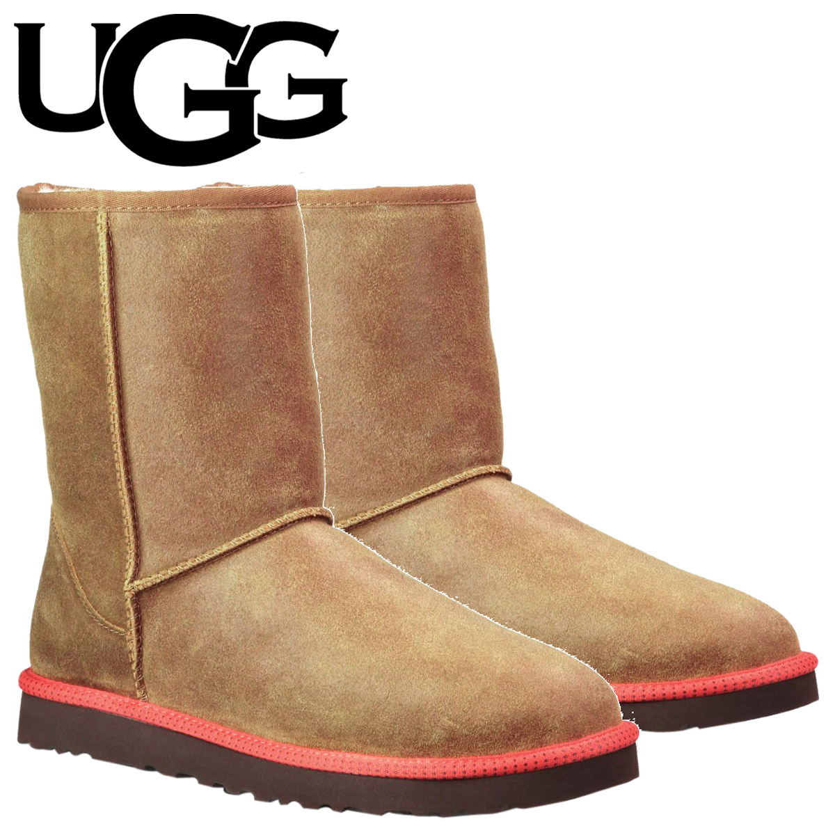 22f6c09df5a UGG UGG men's classic short boots MENS CLASSIC SHORT Shearling leather  1003950 chestnut