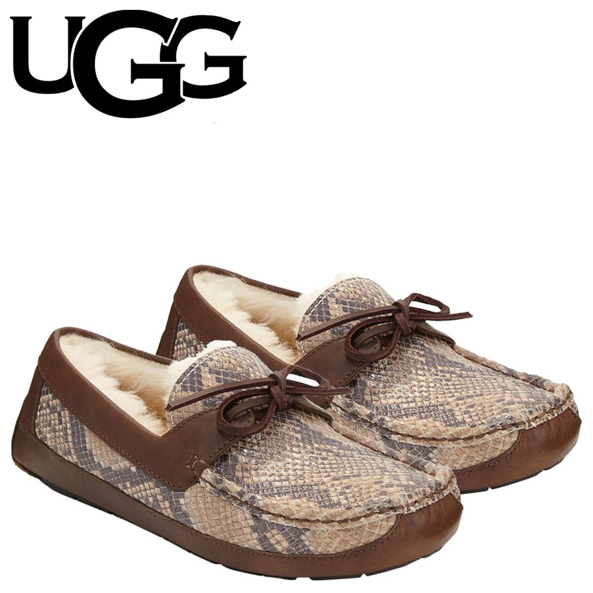 15739e16bd7 アグ UGG men Byron deck shoes MENS BYRON SNAKE 1005349 mouton leather suede