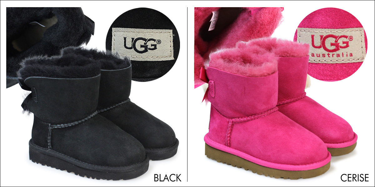 Ugg UGG boots Sheepskin boots kids classic mini toddler 1005497T MINI BAILEY BOW Eagle [10/31/new in stock]