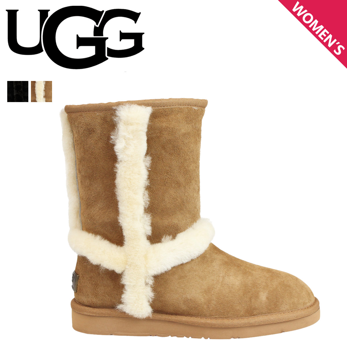d257a10c85e アグ UGG Carter mouton boots WOMENS CARTER TL 1005803 sheepskin Lady's
