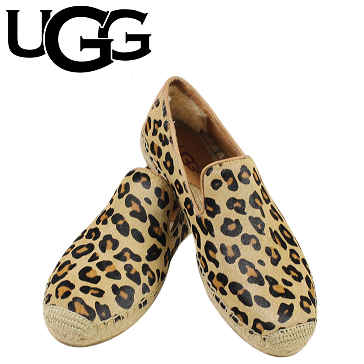 3dc57d51e381 ALLSPORTS: UGG UGG women's Sandrine calf hair Leopard slip-on shoes ...