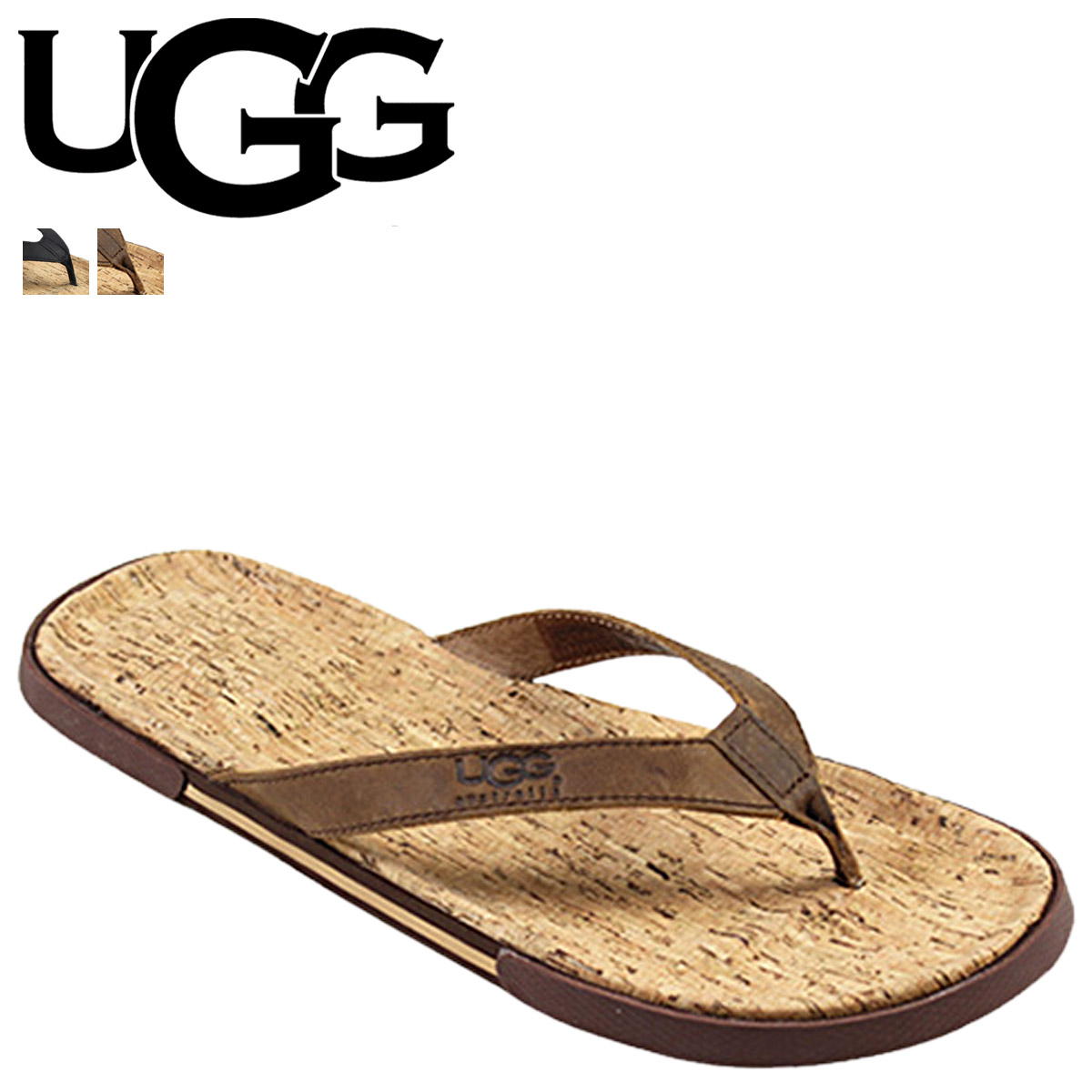 ea2f10cca Point 2 x UGG UGG men s Bennison 2 Cork sandal thong Sandals MENS BENNISON  II CORK ...