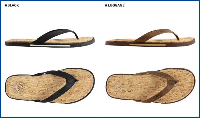 Point 2 x UGG UGG men's Bennison 2 Cork sandal thong Sandals MENS BENNISON II CORK nubuck x Cork Beach Sandals flip flops by 2015 spring summer new 1007879 ...
