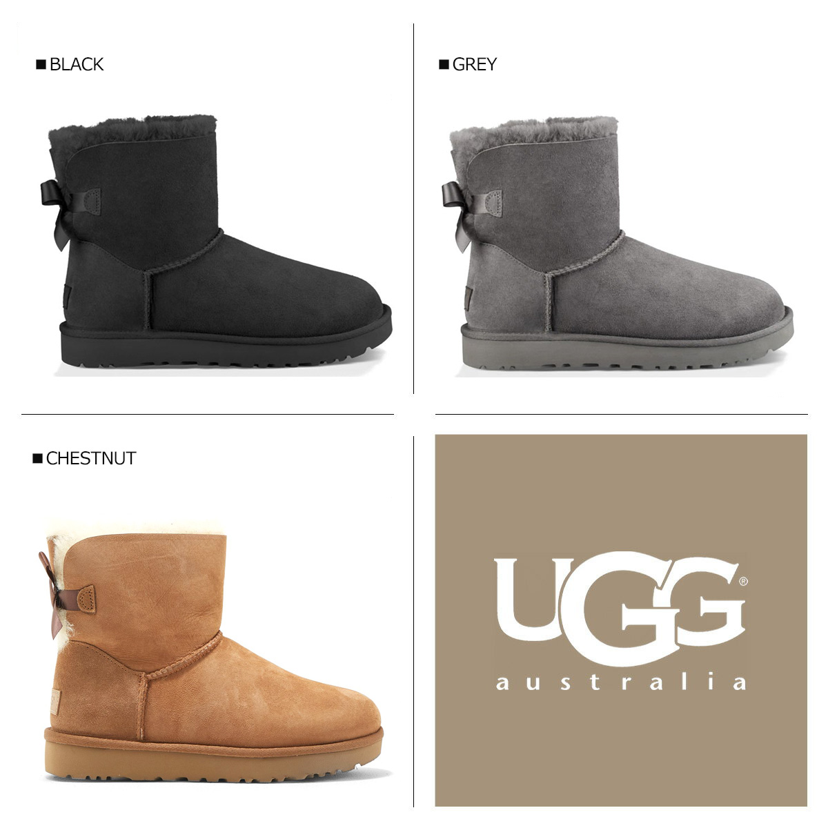 アグ UGG mini-Bailey bow tie 2 mouton boots WOMENS MINI BAILEY BOW II 1016501 Lady's 3 color [8/23 Shinnyu load] [178]