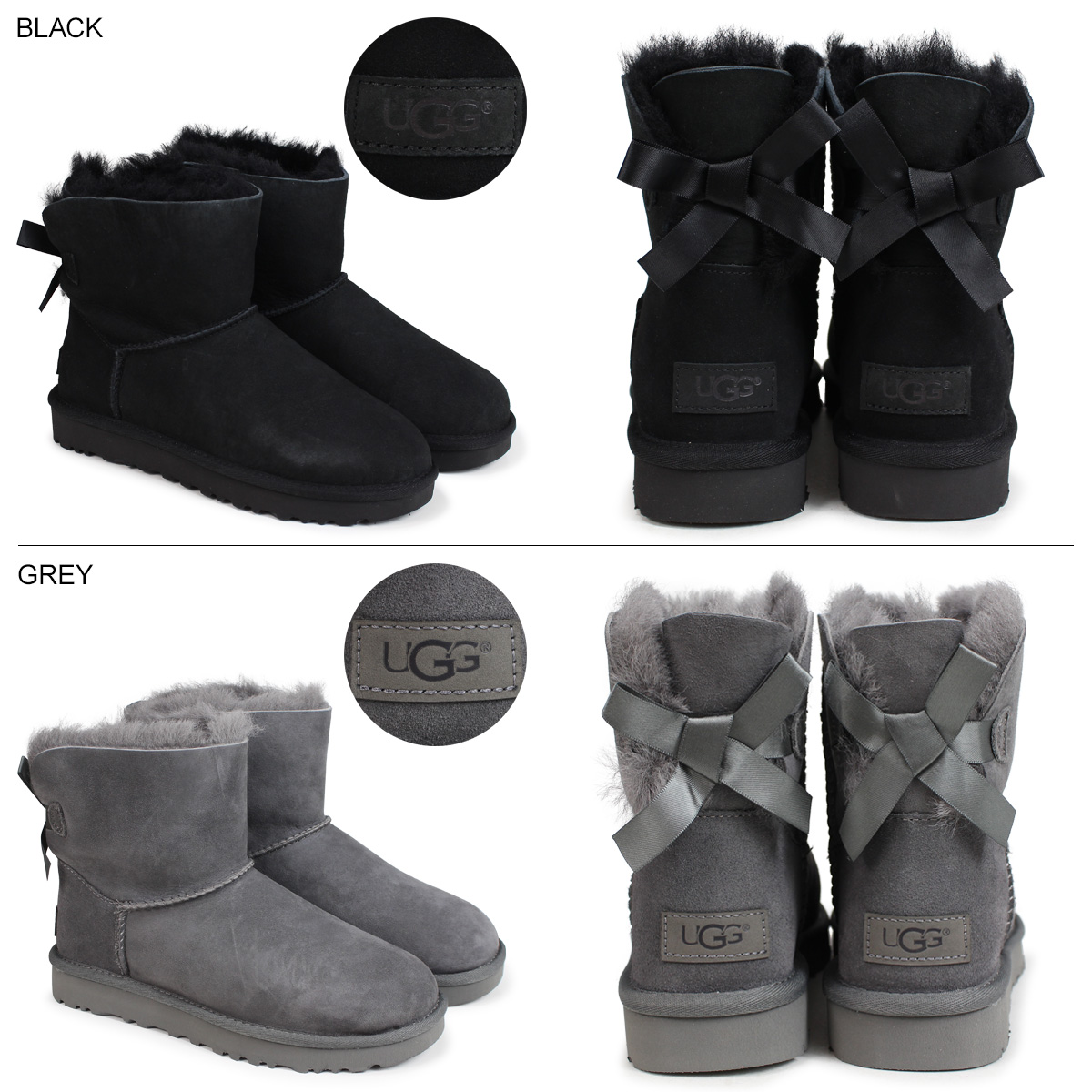 0c5ac2a21 ... アグ UGG mini-Bailey bow tie 2 mouton boots WOMENS MINI BAILEY BOW II  1016501 ...