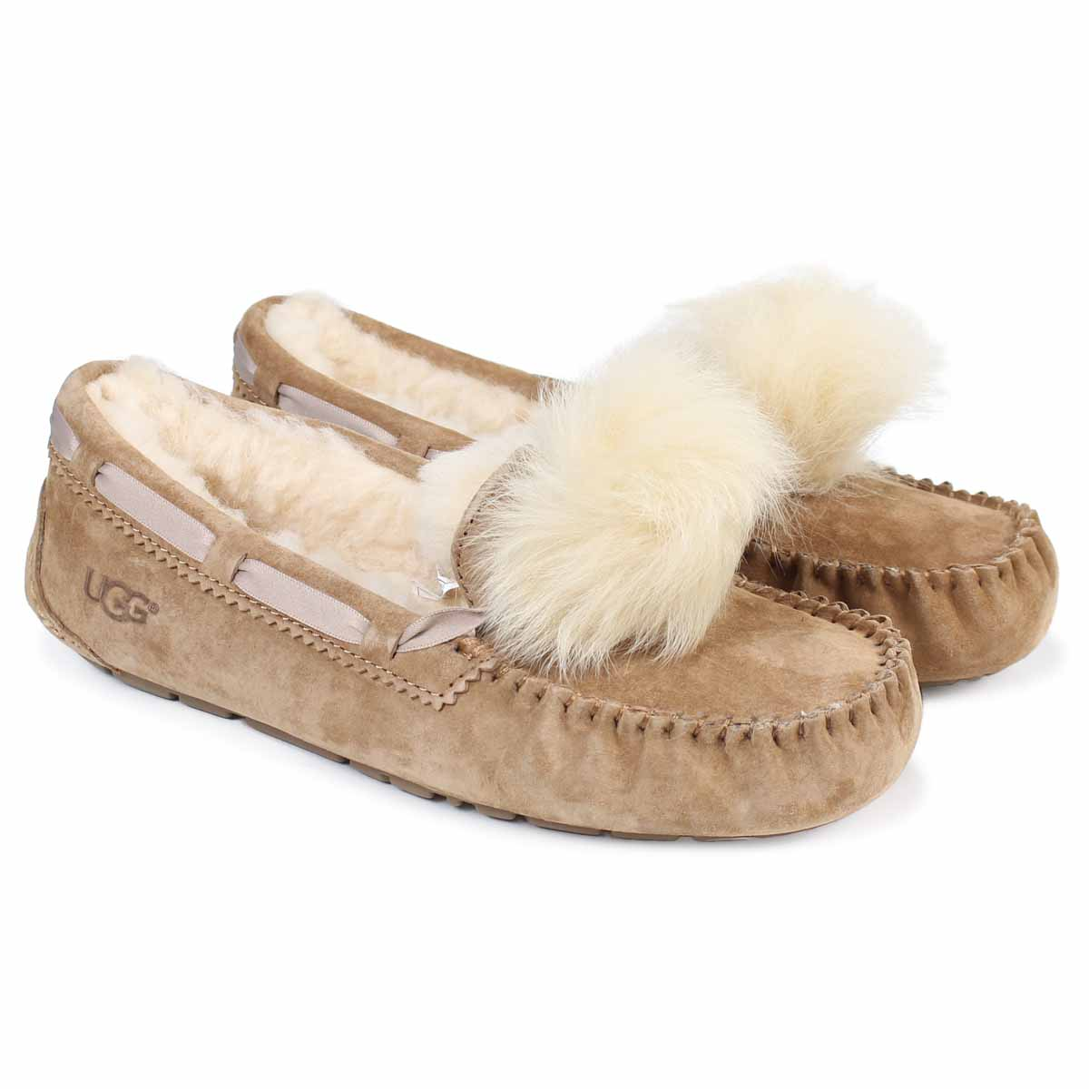 e914d83da82 UGG WOMENS DAKOTA POM POM アグモカシンダコタレディースムートンシューズ 1019015 sheepskin suede  [11/15 Shinnyu load] [1711]