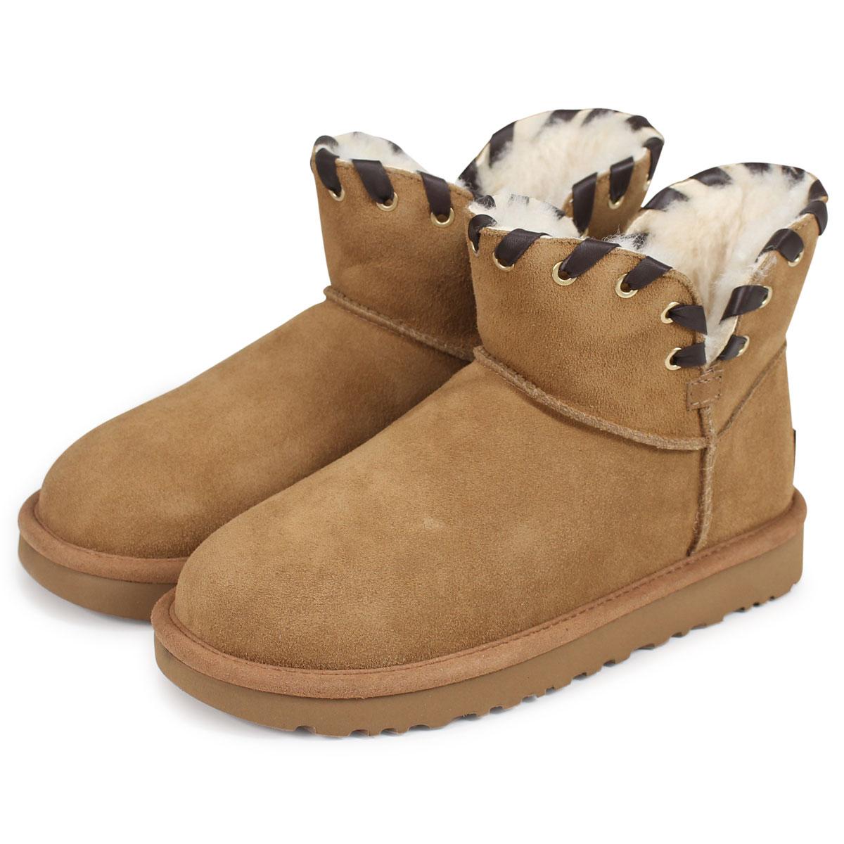 6cb8fbcbf34 UGG WOMENS AIDAH MINI agua Ida mini-mouton boots Lady's 1019644 sheepskin  suede [1711]