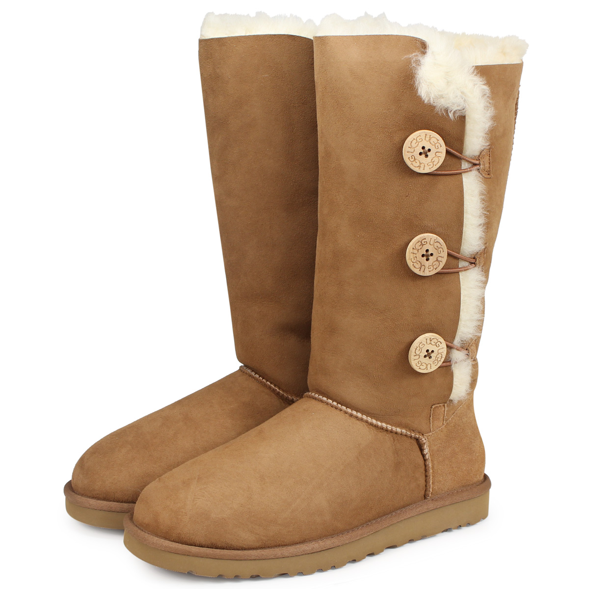 2bdd222ee0e 1873 アグ UGG boots mouton boots Bailey button triplet 2 lady's 1016227  WOMENS BAILEY BUTTON TRIPLET II regular article [178]