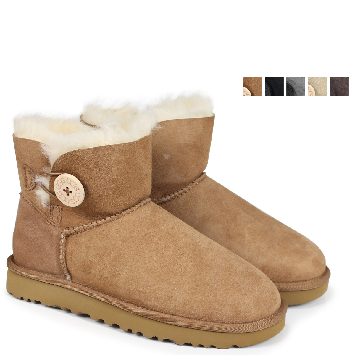 315ced956d2 アグ UGG Lady's WOMENS MINI BAILEY BUTTON II mouton boots mini-Bailey button  2 3352 1016422 [178]