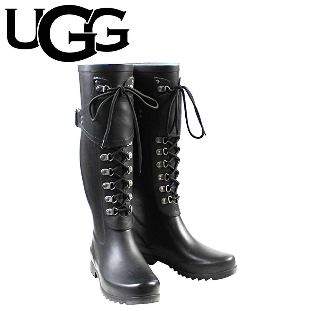 8599bc1e487 Madeleine rain boots women's UGG UGG [Black] MADELYNN WOMENS ladies rubber  2014 SPRING new 3456 [5 / 10 new in stock] [regular]
