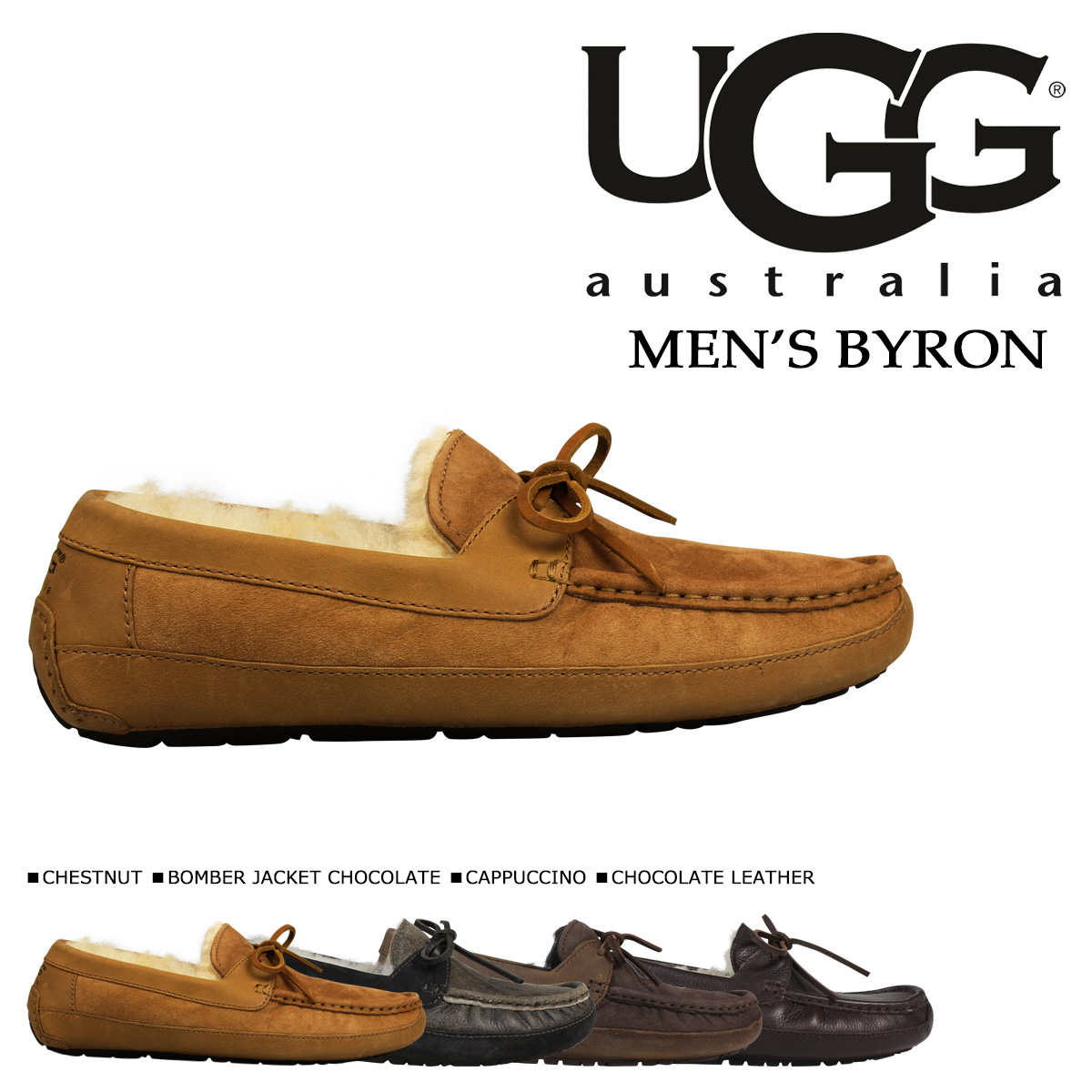 39% ☆ UGG UGG men's Byron moccasin shoes 5102 5161 MENS BYRON SHEEPSKIN Shearling Sheepskin