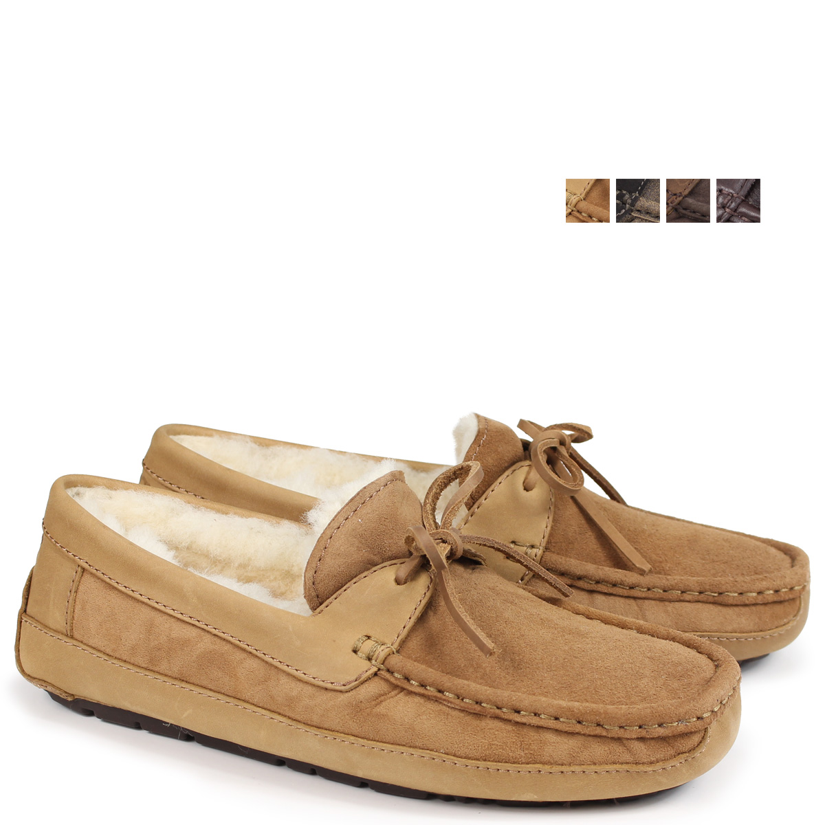 0b1b1e84f25 アグ UGG men Byron moccasins mouton slip-on shoes MENS BYRON 5102 5,102A 5161  1001545 sheepskin