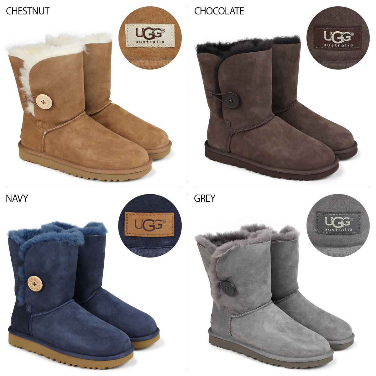«Booking products» «11 / 5 days will be in stock» ☆ 35% off ☆ UGG UGG women's Bailey button boots 5803 WOMENS BAILEY BUTTON Womens 2013 FALL new Sheepskin. «