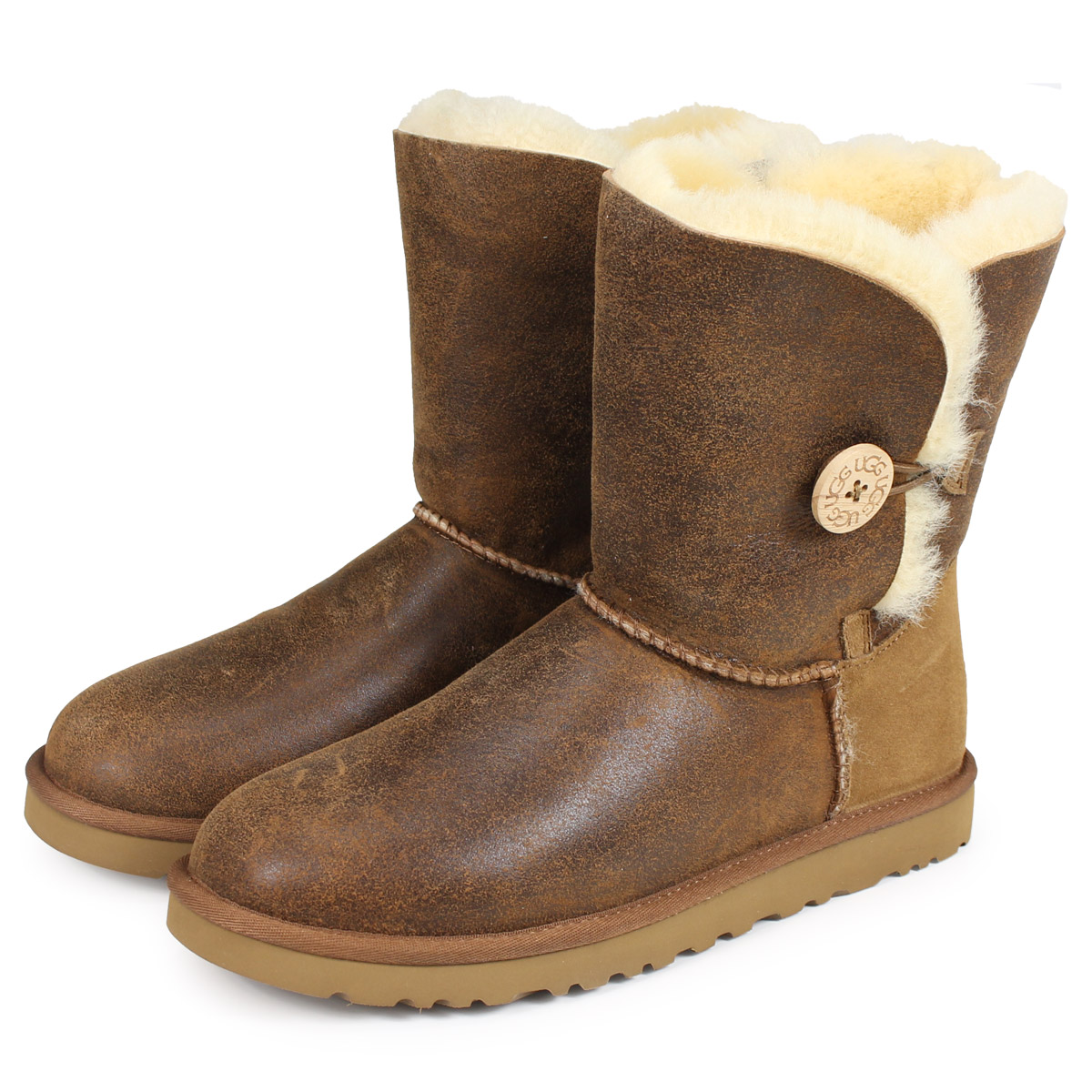 72f72f22178 4 color UGG UGG women's Bailey button bomber boots 5838 WOMENS BAILEY  BUTTON BOMBER Womens 2014 new Sheepskin [regular]