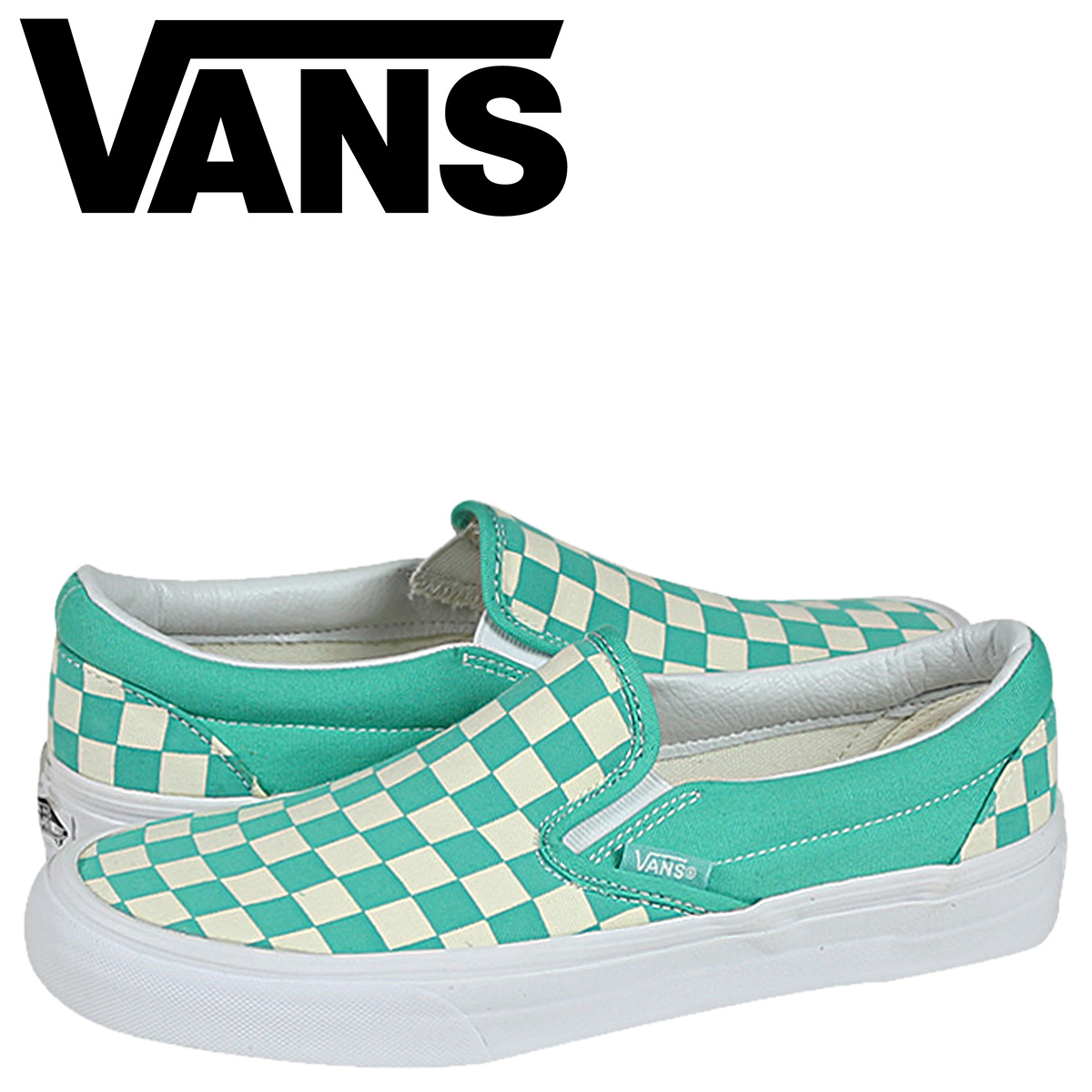 Vans VANS CLASSIC SLIP ON sneaker classic slip on canvas mens Womens VN 0XG8DEU Aqua green white