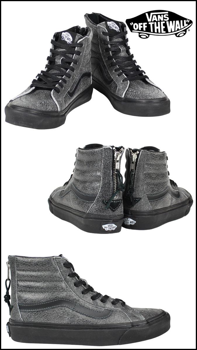 caca34505ebb VANS vans sneakers Lady s SK8-HI SLIM ZIP CRACKLE SUEDE VN-0XH8EPJ men  shoes black
