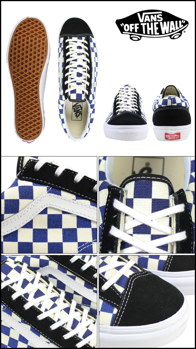 66f30223ac9 Vans VANS STYLE 36 GOLDEN COAST sneaker style 36 Gold Coast canvas men s  VN-0XI0DI9 true blue   check  regular