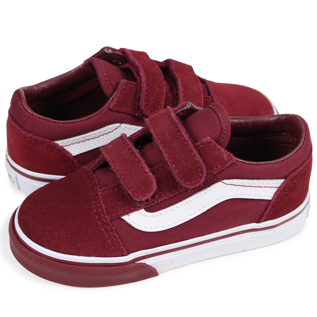 e4ccc9943b85 VANS TODDLER OLD SKOOL VELCRO old school sneakers baby vans station wagons  VN0A344KQ7H dark red  2 16 Shinnyu load   182