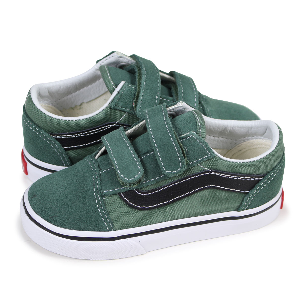 8438b9d50869 ALLSPORTS  VANS TODDLER OLD SKOOL VELCRO old school sneakers baby ...