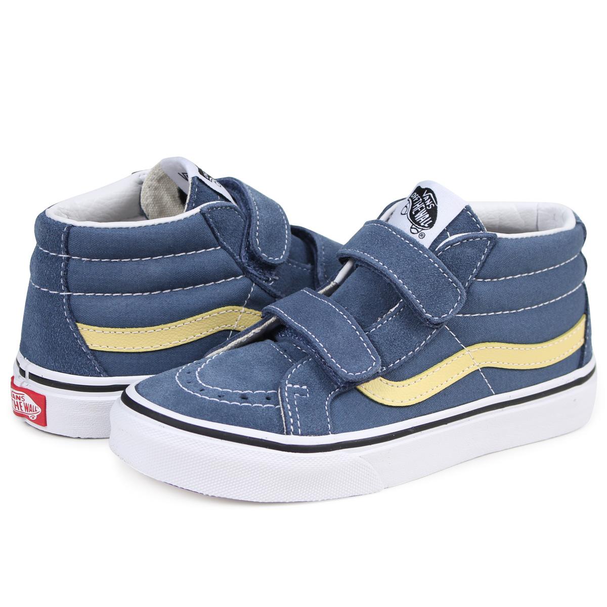 958e48f183 VANS SK8-MID KIDS REISSUE VELCRO sneakers kids vans station wagons  VN0A346YQ8D gray  2 16 Shinnyu load   182