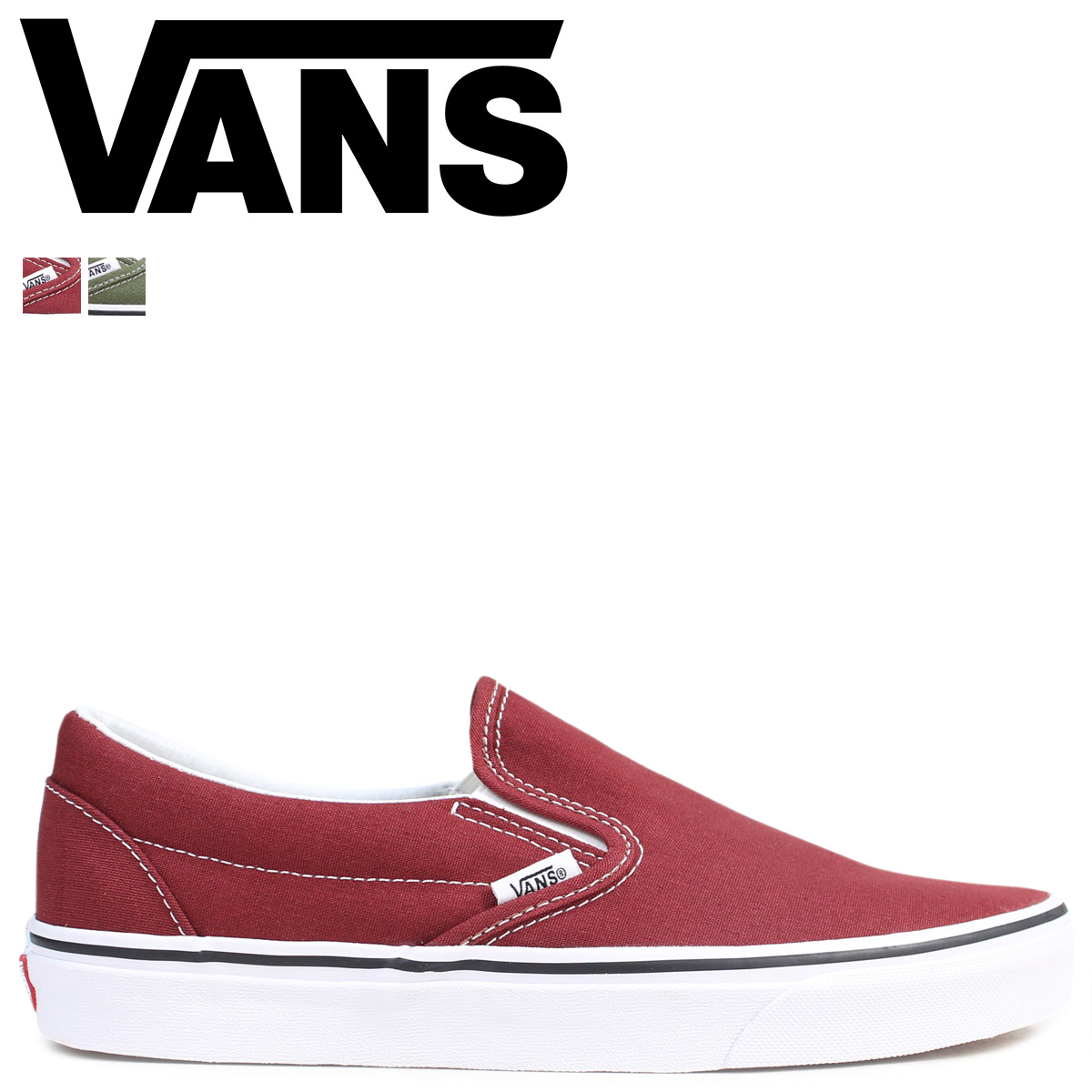 fabf4a1a VANS CLASSIC SLIP-ON slip-ons men sneakers vans station wagons VN0A38F7OVK  VN0A38F7OW2 shoes brown green [1712]