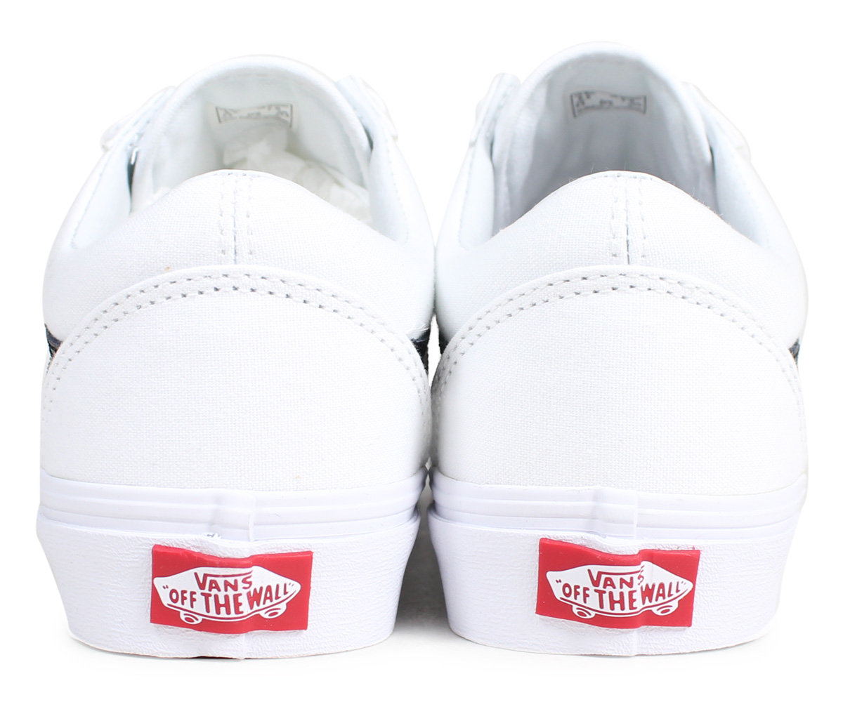 VANS OLD SKOOL V OFF THE WALL vans old school sneakers Velcro Lady's station wagons white white VN0A3D29R2Q