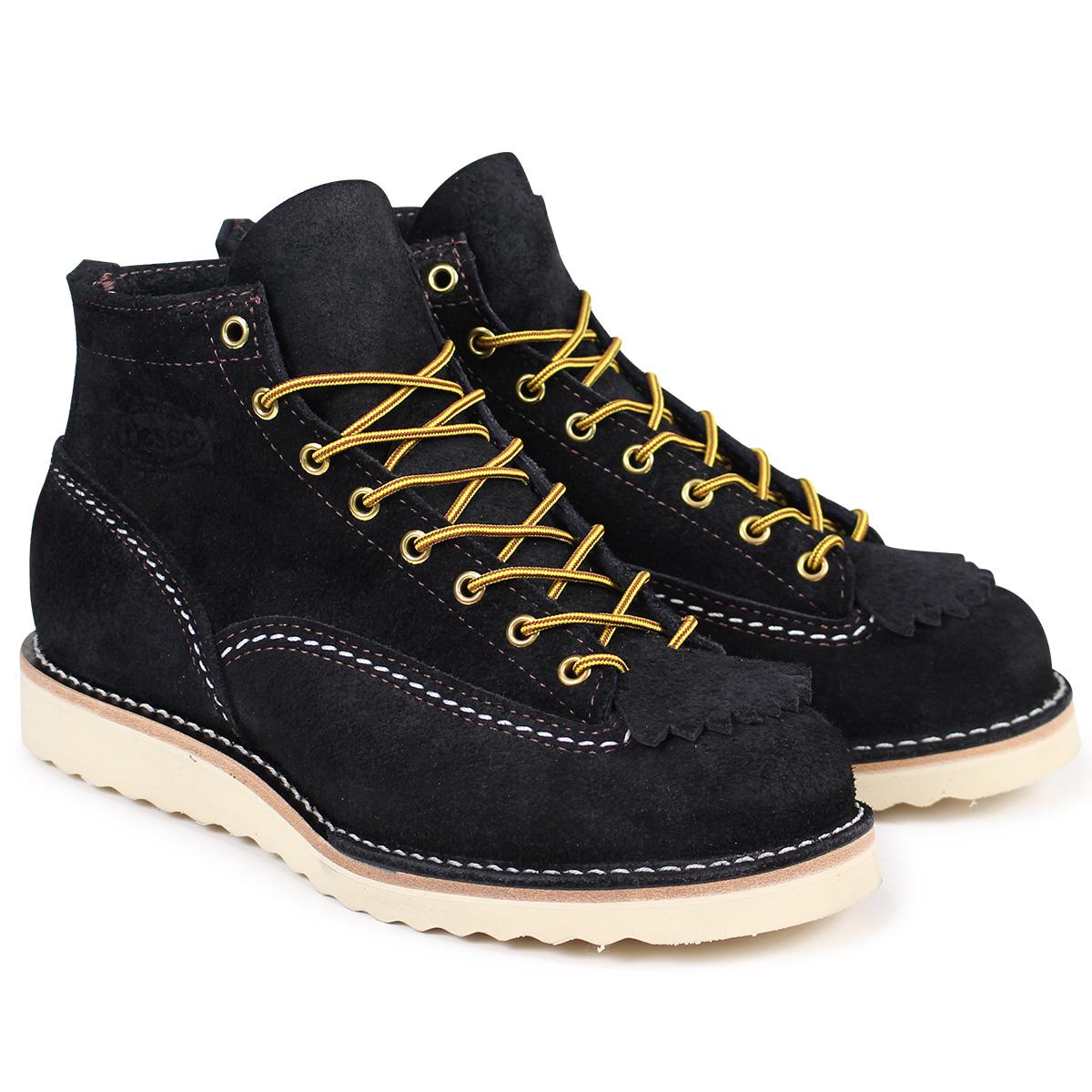 WESCO 6INCH CUSTOM JOB MASTER ウエスコ ジョブマスター ブーツ 6インチ カスタム Eワイズ スエード メンズ ブラック BK1061010 ウェスコ