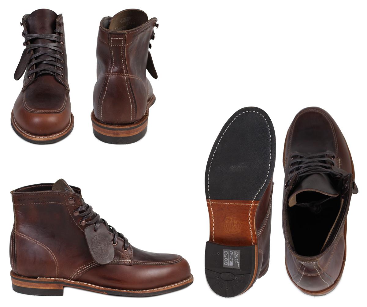 金剛狼狼獾 1000年英里科特蘭靴子 [棕色] x 5 點考特蘭 1000年英里引導皮革男裝 W00278 金剛狼