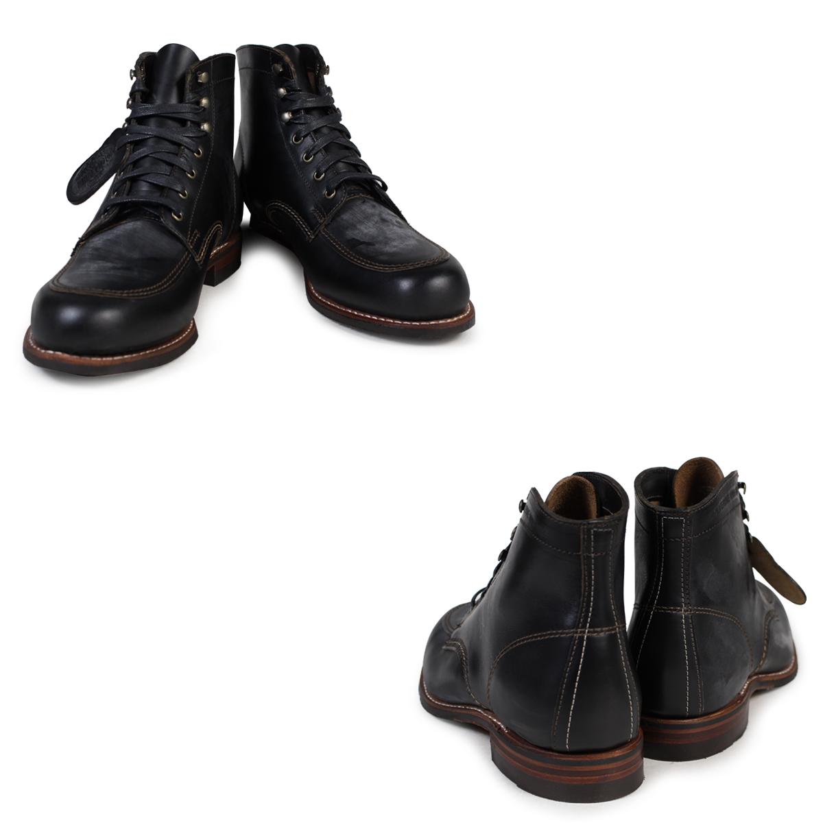 [SOLD OUT]uruvarin WOLVERINE 1000英里长筒靴COURTLAND 1000 MILE BOOT D怀斯W00279黑色嘲笑二工作长筒靴人