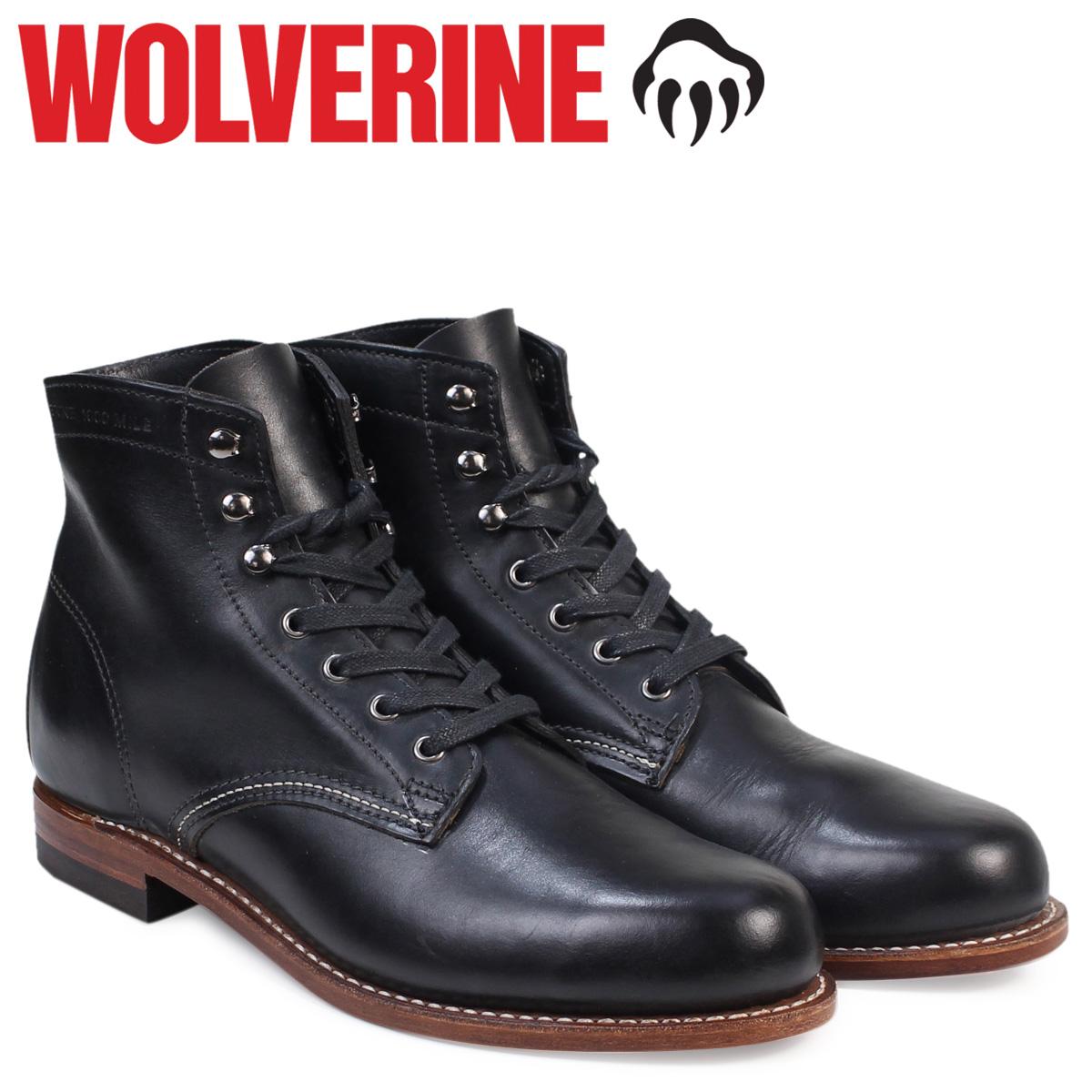 【最大2000円OFFクーポン】 WOLVERINE ウルヴァリン 1000マイル ブーツ メンズ 1000 MILE BOOT Dワイズ W05300 ブラック ワークブーツ