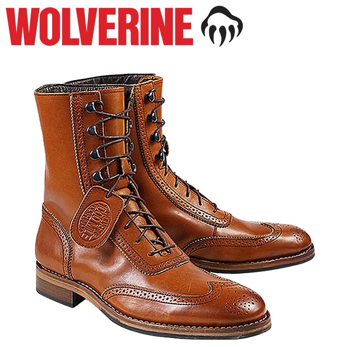 fb0dfffc962 WOLVERINE WINCHESTER 1000 MILE BROGUE BOOT Wolverene 1,000 miles boots D  Wise W06491 tongue work boots men