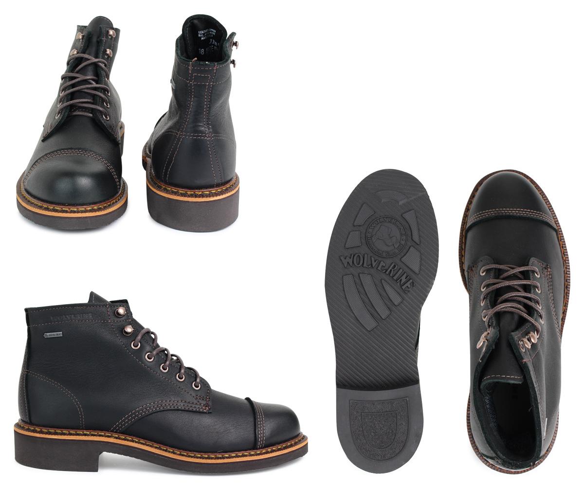 b136de7860d WOLVERINE JENSON WATERPROOF BOOT ウルヴァリンブーツメンズ D Wise W40418 blackwork boots  [192]