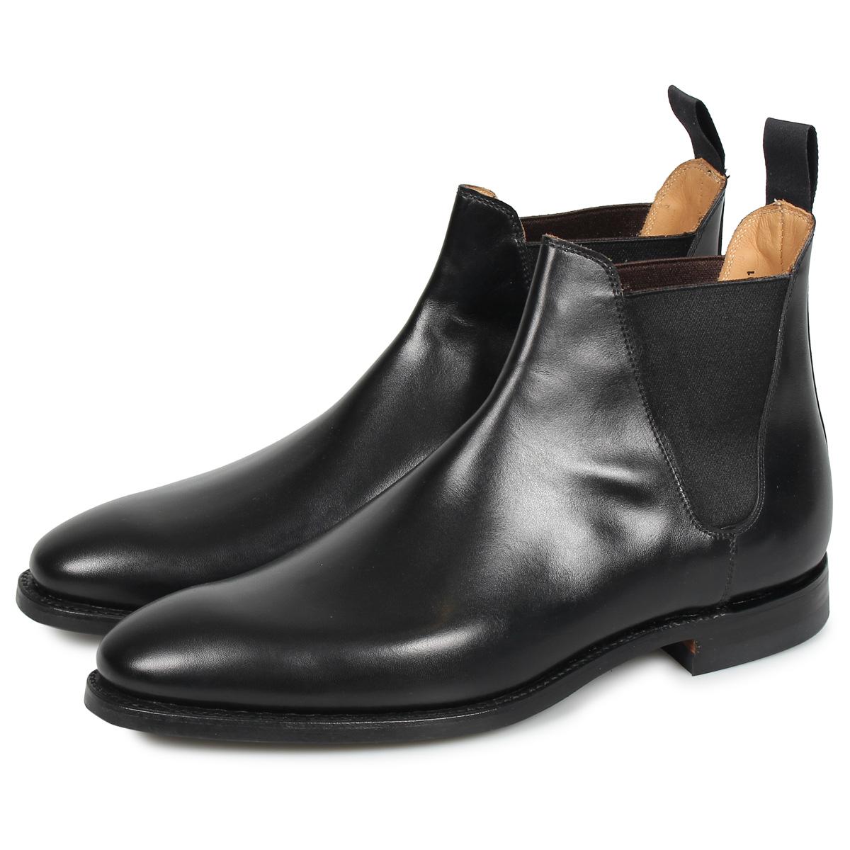 CROCKETT&JONES CHELSEA 8 クロケット&ジョーンズ チェルシー 8 ブーツ サイドゴア メンズ Eワイズ ブラック 黒