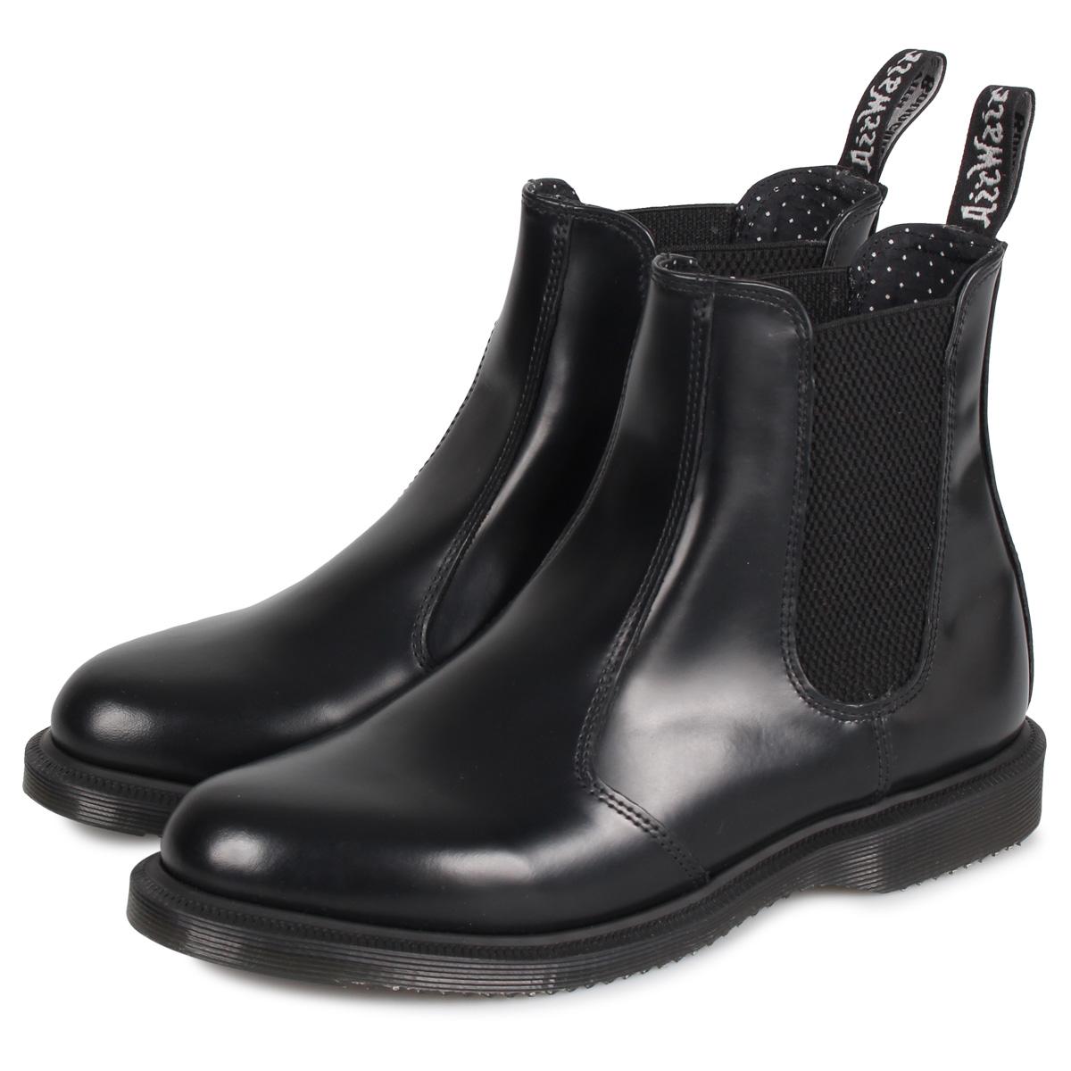 Dr.Martens FLORA CHELSEA BOOT ドクター マーチン サイドゴア ブーツ メンズ レディース チェルシーブーツ ブラック 黒 R14649001