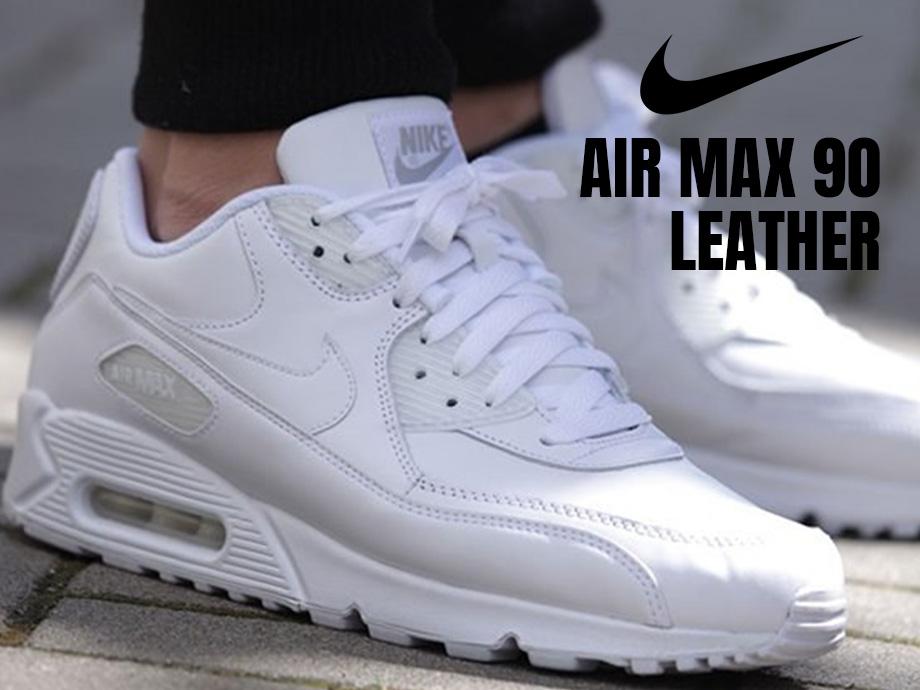Get \u003e nike air max 90 white leather
