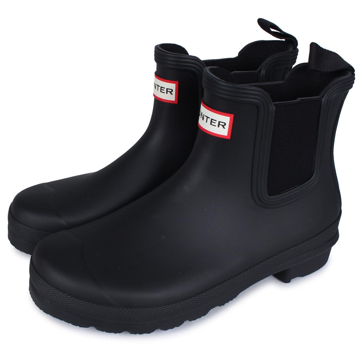 HUNTER WOMENS ORIGINAL CHELSEA ハンター レインブーツ 長靴 ショート ブーツ チェルシーブーツ オリジナル レディース ブラック ネイビー 黒 WFS2078RMA [4/20 新入荷]