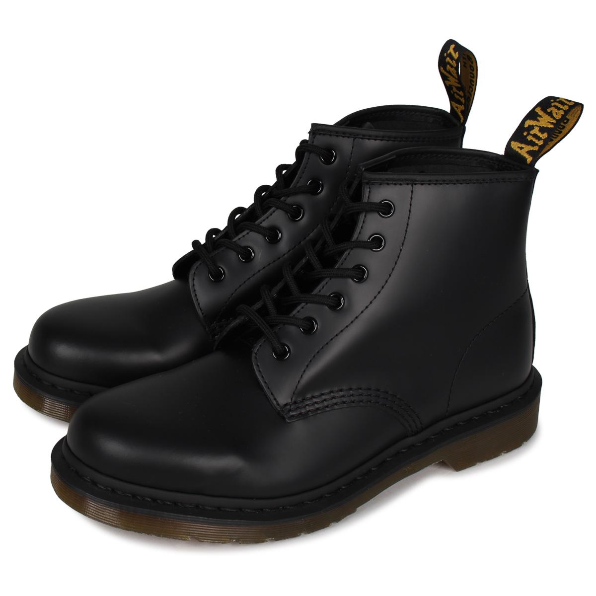 送料無料 22.5cm-28cm ドクターマーチン Dr.Martens ブーツ 最大1000円OFFクーポン 6EYE BOOTS 101 黒 ブラック R24255001 ブランド買うならブランドオフ メンズ 奉呈 レディース 6ホール