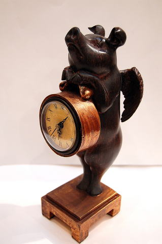 Noel25 Antique Angel Big Clocks Figurine Clock Pig Pig Pig Angel