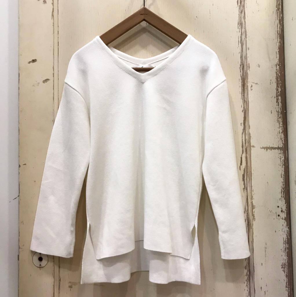 CLOTH&CROSS(クロスアンドクロス) ミラノVネックセーター ホワイト