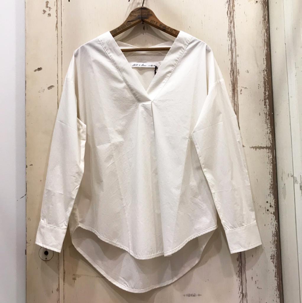 CLOTH&CROSS(クロスアンドクロス) タイプライターVネックプルオーバー オフホワイト