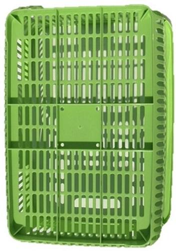 【企業限定】買い物かご(薄緑)メッシュ  コンテナ  ショッピングバスケット スーパーかご 収納 持ち運び エコバッグ 袋詰め
