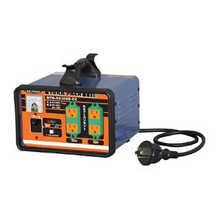 日動 変圧器 降圧専用セットコンセントトラパック アース過負荷漏電しゃ断器付 NTB-EK300D-CC