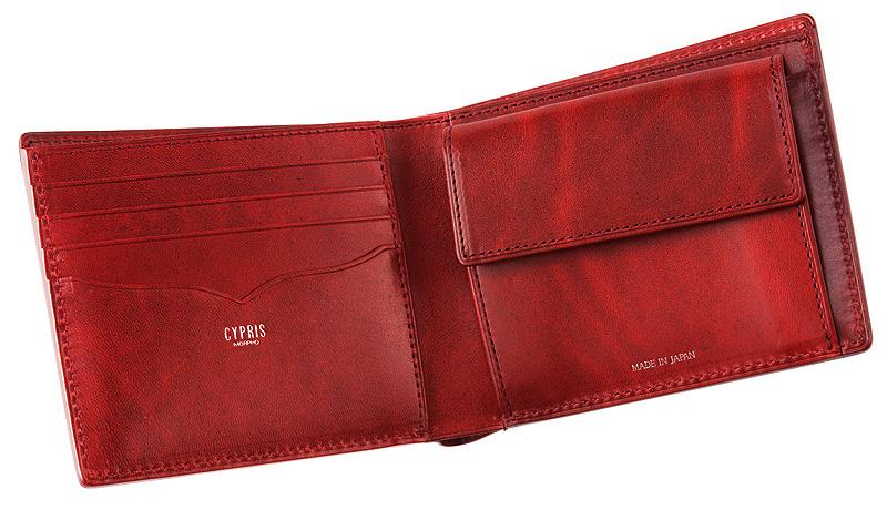 52fea4865c7f 【キプリス】二つ折り財布(小銭入れ付き札入)□ブライドルレザー&ルーガショルダー