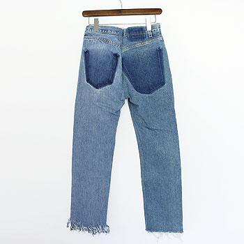 【ナナナナサーカ / 77circa】フリンジスリムデニムパンツ fringe slim denim pants【送料無料】【p10】【クーポン利用可w200】