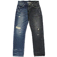 【エフィレボル/.efilevol】Black & Indigo Denim Pants ブラックアンドインディゴデニムパンツ【送料無料】【p20】